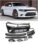 AEI -  SRT Hell Cat Style Front Bumper Conversion - Dodge Charger 2015-2017
