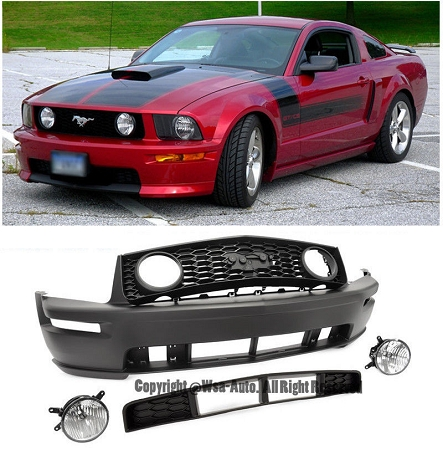Aei Gt Style Front Bumper Conversion Ford Mustang 2005 2009