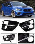 AEI - JDM Style S4 LED Fog Light Bezel Cover - Subaru WRX STI 2015-Up