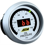 AEM Electronics - Digital Oil Pressure Gauge 0 to 100 PSI