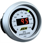AEM Electronics - Digital Oil Pressure Gauge 0 to 150 PSI
