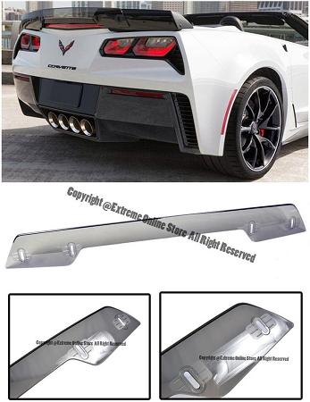Aerowerks Rear Stage 3 Z07 Style Wickerbill Spoiler Chevrolet Corvette 2014 2017 C7 Light Tint