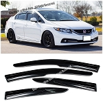 AeroWerks - Side Tinted Window Visors - Mugen Style - Honda Civic 2012-2015 4 Doors