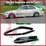 AeroWerks - Side Window Visors - OE Style - Honda Civic 1996-2000 4 Doors