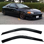 AeroWerks - Side Window Visors - OE Style - Honda Civic 1992-1995 2 Doors 3 Doors