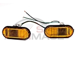 BB USA - JDM Style Amber Flat Fender Side Marker Lights - Honda Civic 1992-1995 / Acura Integra 1994-2001