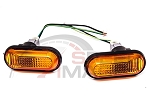 BB USA - JDM Style Amber Dome Fender Side Marker Lights - Honda Civic 1992-1995 / Acura Integra 1994-2001