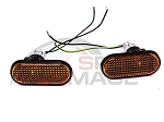BB USA - JDM Style Smoke Amber Flat Fender Side Marker Lights - Honda Civic 1992-1995 / Acura Integra 1994-2001