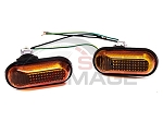 BB USA - JDM Style Smoke Amber Dome Fender Side Marker Lights - Honda Civic 1992-1995 / Acura Integra 1994-2001