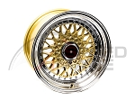 BB USA - BBS RS Style Wheels - 15x8 +20 4x100 67.1 Hub - Gold - Set of 4 Wheels