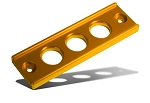 Blox Racing - Billet Battery Tie Down - Honda Civic 1992-2000 / Acura Integra 1994-2001 - Gold