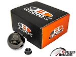Blox Racing - Limited 490 Spherical Round Shift Knob - 10x1.25mm (Mazda, Mitsubishi, Nissan) - Platinum Gunmetal