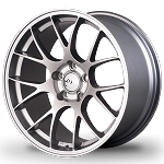 Miro Wheels - Type 112 - 18x8.5 5x100 +35mm 57.1 Hub Bore - Full Silver