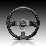 Momo - Tuning Steering Wheel - Team - 280mm - Black Leather, Black Spoke