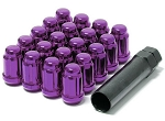 Muteki - Tuner Spline Close Ended Wheel Lug Nuts - 12x1.25mm - Set of 20 Lugs + 1 Key - Purple