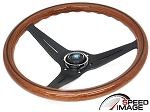 Nardi - Deep Corn Wood Grain Steering Wheel - 350mm - Black Spoke