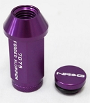 NRG - 700 Series Extended Lug Nuts - 12x1.25MM - Set of 16 + 4 Locks + 1 Key - Purple