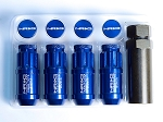 NRG - 700 Series Extended Lug Nut Locks - 12x1.5MM - Set of 4 - Blue