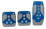 NRG - Brushed Aluminum Sport Pedal - Blue with Silver Carbon - Universal - Manual Transmission