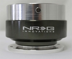 NRG - Steeing Wheel Quick Release Generation 1.0 - Silver Body with Black Chrome Ring