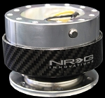 NRG - Steeing Wheel Quick Release Generation 1.0 - Silver Body with Carbon Fiber Ring