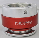 NRG - Steeing Wheel Quick Release Generation 1.0 - Silver Body with Red Ring