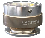 NRG - Steeing Wheel Quick Release Generation 1.0 - Silver Body with Titanium Ring