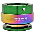 NRG - Steeing Wheel Quick Release Generation 2.0 - Green Body with Neo Chrome Ring