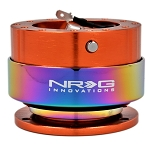 NRG - Steeing Wheel Quick Release Generation 2.0 - Orange Body with Neo Chrome Ring