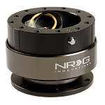 NRG - Steeing Wheel Quick Release Generation 2.0 - Black Body with Titanium Chrome Ring