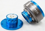 NRG - Steeing Wheel Quick Release Generation 2.0 - New Blue Body with Titanium Chrome Ring