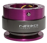 NRG - Steeing Wheel Quick Release Generation 2.0 - Purple Body with Titanium Chrome Ring