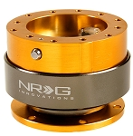 NRG - Steeing Wheel Quick Release Generation 2.0 - Rose Gold Body with Titanium Chrome Ring