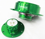 NRG - Steeing Wheel Quick Release Generation 2.5 - Green Body and Ring