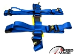 NRG - 4 Point 2 Inch Safety Seat Belt Harness - Blue - For One Seat