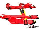 NRG - 4 Point 2 Inch Safety Seat Belt Harness - Red - For One Seat