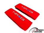 NRG - Safety Seat Belt Harness Pads - Red - For One Seat
