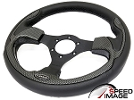 NRG - Pilota Series Sport Steering Wheel - 320mm - Leather with Carbon Fiber Look Inserts