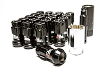 Project Kics - R40 Iconix Lug Nuts with Locks - 12x1.25mm - Black