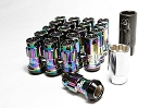 Project Kics - R40 Iconix Lug Nuts with Locks - 12x1.5mm - Neo Chrome