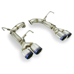 Remark - Exhaust Muffler Delete Double Wall Burnt Titanium Quad Tips - Subaru WRX/STI 2015+