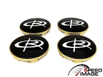 Rota Wheels - Replacement Set of 4 Center Caps - Daytona Gold - Fits Circuit 10, G-Force, Torque