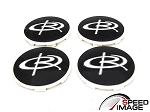 Rota Wheels - Replacement Set of 4 Center Caps - Daytona - White Ring - Fits Circuit 10, G-Force, Torque