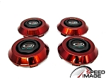 Rota Wheels - Replacement Set of 4 Center Caps - Frankie 4 - Red - Fits Zero Plus, JMAG