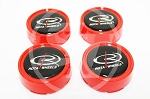 Rota Wheels - Replacement Set of 4 Center Caps - Moda - Red - Fits Track R, Grid V, Aleica