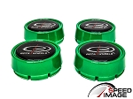 Rota Wheels - Replacement Set of 4 Center Caps - Moda - Green - Fits Track R, Grid V, Aleica