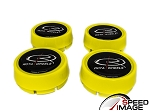 Rota Wheels - Replacement Set of 4 Center Caps - Moda - Hyper Yellow - Fits Track R, Grid V, Aleica