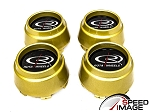 Rota Wheels - Replacement Set of 4 Center Caps - P45 - Gold - Fits P45F P45F