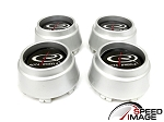 Rota Wheels - Replacement Set of 4 Center Caps - P45 - Silver - Fits P45F P45F