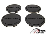 Rota Wheels - Replacement Set of 4 Center Caps - Z - Flat Black - Fits Circuit 10, G-Force, Torque, Zero Plus
